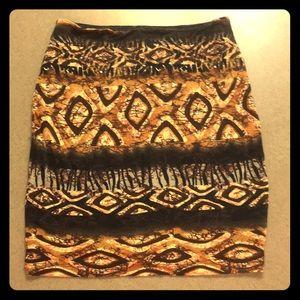 Torn Designer Ronny Kobo Tiger Bodycon mini Skirt